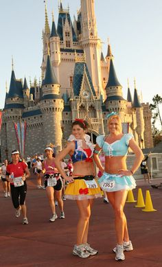 Disney Princess 1/2 marathon. With Mandy. Just gotta get in shape! What could be cooler than this---dressing up like your favorite Disney princess and running through the parks?! Yes please!