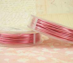 SALE 26 gauge Rose Pink Wire  Non Tarnish  90 by UnkamenSupplies, $8.85