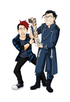Dynamic Duo by on DeviantArt Markiplier Fan Art, Danisnotonfire And Amazingphil, Fullmetal Alchemist, Hollywood Celebrities, Amazing Things, Crossover, Just Go, Spy, Youtubers