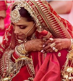Most awaited picture of the year are out at the official accounts of Ranveer and Deepika Patiala, Churidar, Anarkali, Salwar Kameez, Red Lehenga, Deepika Ranveer, Deepika Padukone Style, Ranveer Singh, Indian Bridal Fashion