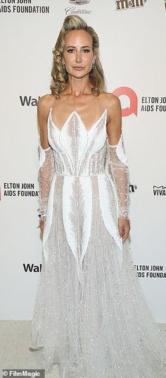 Bridal chic: It was all white on the night for Lady Victoria Hervey...