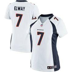 John Elway Elite Jersey-80%OFF Nike John Elway Elite Jersey at Broncos Shop. (Elite Nike Women's John Elway White Jersey) Denver Broncos Road #7 NFL Easy Returns.