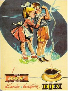 ION, still thriving Greek brand for cocoa and chocolate! Here, an ad(vertisement) from the Vintage Ads Food, Vintage Cards, Vintage Postcards, Vintage Photos, Vintage Advertising Posters, Old Advertisements, Old Posters, Doily Art, Old Commercials
