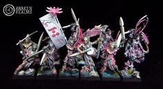 Wood Elves Wardancers japanese cherry blossom style