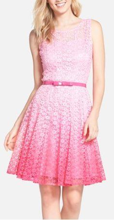 pretty in pink ombré dress