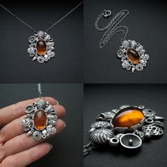 Organica Collection - Voices from the past | silver, Baltic amber (pendant by Anna Fidecka)