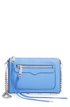 Can't get over the gorgeous blue color of this Rebecca Minkoff bag.