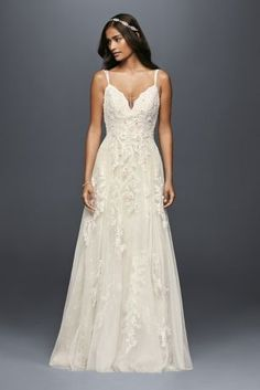 Browse Melissa Sweet wedding dresses at David's Bridal! Cap sleeve wedding dresses, lace gowns, and mermaid bridal dresses will sweep you off your feet. Sweet Wedding Dresses, Bridal Party Dresses, Wedding Dresses With Straps, David Bridal Wedding Dresses, Tulle Wedding, Mermaid Wedding, Davids Bridal Gowns, Ethereal Wedding Dress, Lace Mermaid