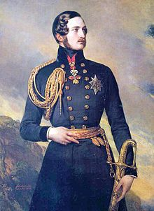 Prince Albert of Saxe-Coburg and Gotha was the husband of Queen Victoria of Great Britain and Ireland.  He was born in the Saxon duchy of Saxe-Coburg-Saalfeld to a family connected to many of Europe's ruling monarchs. At the age of 20 he married his first cousin, Queen Victoria, with whom he would ultimately have nine children. At first, Albert felt constrained by his position as consort, which did not confer any power or duties upon him.