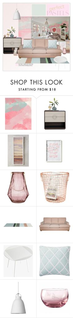 """Perfect Pastels"" by rainie-minnie ❤ liked on Polyvore featuring interior, interiors, interior design, home, home decor, interior decorating, Anthropologie, Bloomingville, Serena & Lily and Royal Albert"