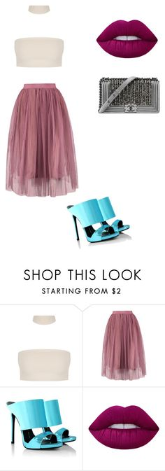 """Untitled #98"" by carterraven on Polyvore featuring Giuseppe Zanotti, Chanel and Lime Crime"