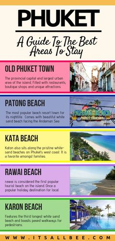 """""""Phuket has definitely been the highlight to our explorations of Thailand. Below I will share with you the best areas to stay in Phuket. Below I guide your through where to stay in Phuket in this… """" Phuket Travel, Thailand Vacation, Thailand Travel Guide, Asia Travel, Backpacking Thailand, Nightlife Travel, Hotels In Phuket Thailand, Patong Thailand, Thailand Adventure"""