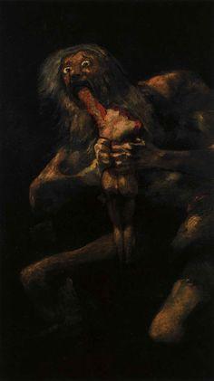 """Goya, """"Saturne dévorant ses enfants"""", 1823"""