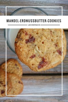 Mandel-Erdnussbutter-Cookies mit Schokolade
