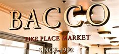 Bacco Cafe Pike Place Market - Seattle, WA | Bacco fuses a mixture of pacific northwest cuisine with Italian fair, refreshing the palettes of it's customers in an invigorating nature.