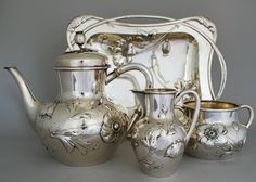 Art Nouveau Tea Set  c 1900