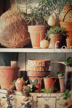 Love the decorated flower pots  seven gates farm