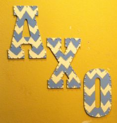 I made cute sorority letters to hag on my wall! AChiO! :) #alphachiomega #sorority #crafts