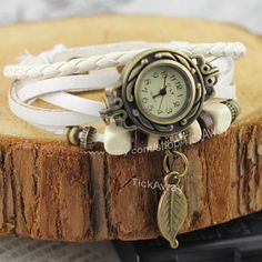 Leather watch woman vintage style woman watch lady by TickAway, $9.99