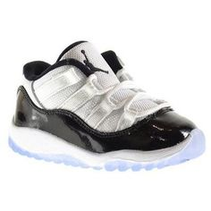 Jordan 11 Retro Low BT Baby Toddlers Shoes White Black-Dark Concord 505836- 2f6d366bf