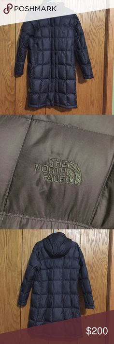 North Face Dark Grey Parka Worn a handful of times. Good condition, hooded (optionable), two outside pockets, one inside pocket. The North Face Jackets & Coats Puffers