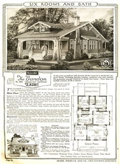 1923 Sears Bandon Bungalow. People Really Bought Their Houses From The Sears  Catalog! | Sims | Pinterest | Bungalow, Catalog And People