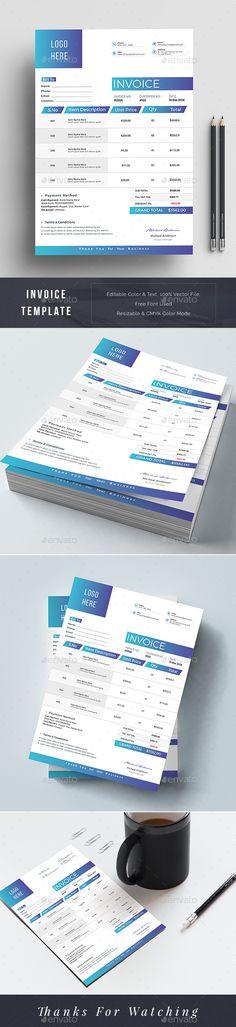 #Invoice - Stationery Print Templates