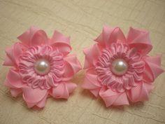 Красивый Цветок- Резинка для волос. Новый лепесток Канзаши./ Flower. /Ka...