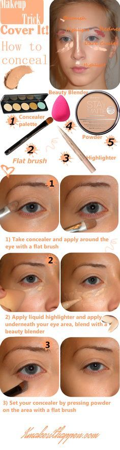 How to use concealer (How To Make Makeup Powder)