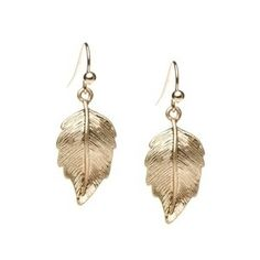 Gold Leaf Earrings Earring Fettish