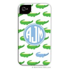 Pea Pod Paper and Gifts Alligator Repeat Blue iPhone 5 Case *VARIOUS MODELS* - iPhone Cases - Tech Savvy Collection - Gifts