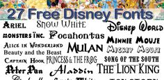 27 Free Fonts : Vol. 3 : Disney Fonts (plus Frozen extra) | The Everyday Windshield