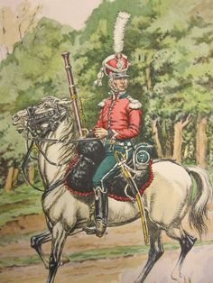 Chasseurs a Cheval, Musician, Grande Tenue, 1809 Empire, Napoleonic Wars, Warfare, Military, French, Pictures, Soldiers, Illustrations, Drawings