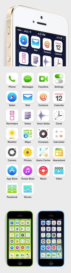 iOS 7 - Concept icon design