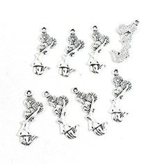 Amazon.com: 20 Pieces Antique Silver Tone Jewelry Making Charms Pendant Findings Craft Supplies Bulk Lots Arts J8MN2 Cheerleader Girl