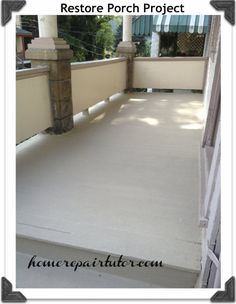 How to paint a porch  {Home Repair Tutor}