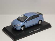 KYOSHO TOYOTA MINICAR COLLECTION 2 PRIUS PHV LIGHT BLUE 1/64 JAPAN #Kyosho #Toyota
