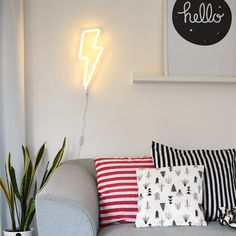 Neon Lightning Bolt LED Feature Wall Light- PRE ORDER JANUARY DELIVERY
