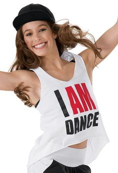 93539c391b21 I AM DANCE - perfect tee for practice or a hip hop performance Costumi Danza ,