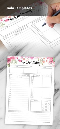Todo template can help you focus and stay on top of things or that can help you keep track of your activities and manage time effectively. Planning will take a couple of minutes because you don't need to fill in some extra info. You can choose paper size: A4, A5, Letter or Half Letter. #todo #templates #list #todays #print Hourly Planner, Agenda Planner, To Do Planner, Daily Planner Pages, Daily Planner Printable, Planner Inserts, Planner Template, Daily Schedule Template