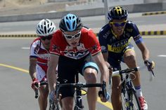Chris Froome controls Alberto Contador on stage 5 in Oman.