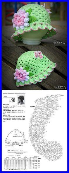 41 Ideas Crochet Dress Kids Hats For 2019 Baby Girl Crochet, Crochet Baby Clothes, Crochet Baby Hats, Crochet For Kids, Baby Knitting, Bonnet Crochet, Crochet Cap, Crochet Crafts, Crochet Projects