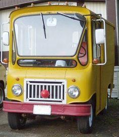 "In Portland, OR. It's called the ""Biff Bus"" a 1963 Jeep Fleet Van FJ3-A."