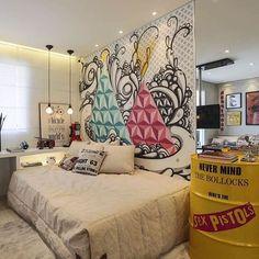 Iniciamos o dia com este quarto descolado. Amamos... {Projeto @c_arq} #bloghomeidea #décor #interiores