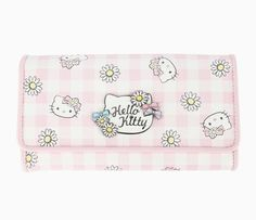 Hello Kitty Long Wallet: Daisy Patch Collection