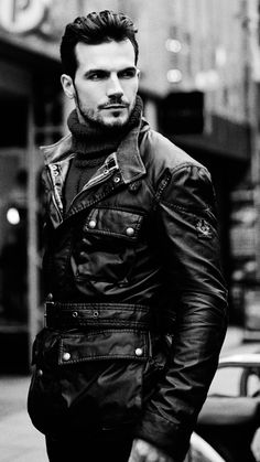 Male Model Body, Male Models, Adam Cowie, Male Photography, Sharp Dressed Man, Photo Black, Leather Men, Leather Jackets, Bikini Photos