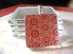 100pk...Crystal Clear Glass Tiles...1 inch...Glass Pendants, Magnets, Earrings, and Cabochons.1SQGL