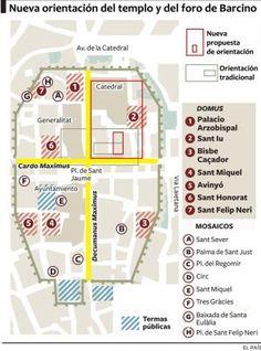Barcino se da la vuelta   Cataluña   EL PAÍS Nottingham, Southampton, Urban Planning, Plaza, Travel, Maps, Town Hall 6, 1st Century, Barcelona City