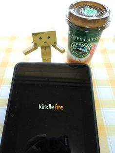 danboard loves coffee and kindle fire HD