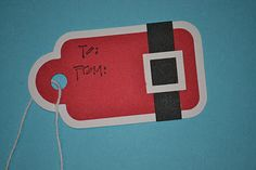 what a simple, cute idea for a gift tag